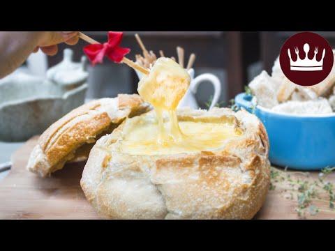 Fondue de Queijo no Pão
