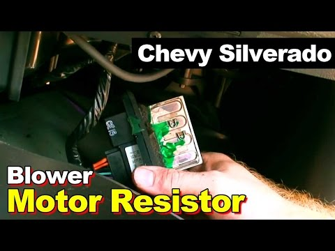 on 2003 Silverado Blower Motor Resistor Location