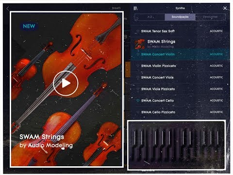 Roli NOISE - The SWAM STRINGS Pack - Demo for the iPad & Seaboard Block