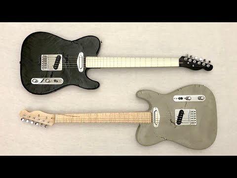 Making a Guitar with Concrete For Those Who Want Real Heavy Metal