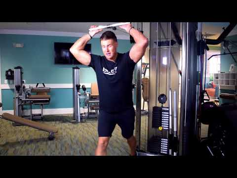 Metropolitan: Standing Cable Tricep Overhead Extension (Straight Bar Attachment)