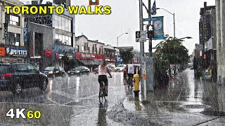 Toronto Rain Walk Through Greektown on August 17, 2020 [4K ASMR]