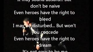 Joe McElderry - Superman (with lyrics)