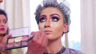 Anurag Makeup Mantra, Spreading  Hair Style  Arabic  Eyes Makeup,  10 Days Hair Style Diploma Full