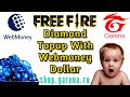 HOW TO CREATE WEBMONEY ACCOUNT/FREE FIRE DIAMOND TOPUP WITH WEBMONEY DOLLAR/FREE FIRE DIAMOND TOPUP