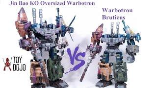JinBao Oversized KO Warbotron vs Warbotron Bruticus