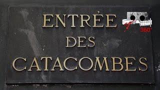 Travel To The Paris Catacombs in 360 VR Tour 4K Visit Paris find bones