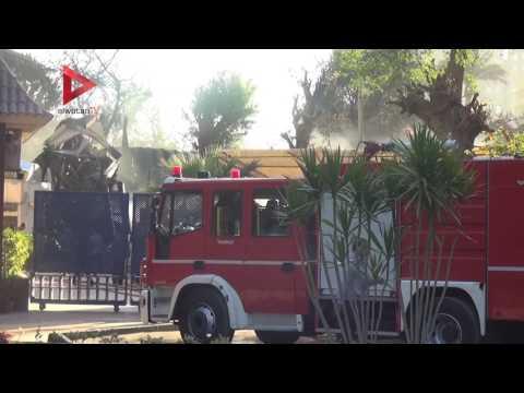 الحماية المدنية تسيطر على حريق نادي الجزيرة