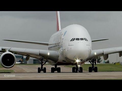 9 Very Close Takeoffs & Landings: A380, 777, 787, A330, 757, 767, A319 Manchester Airport