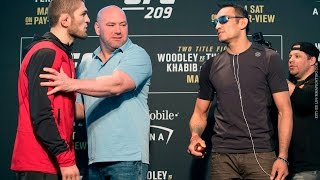 UFC 209 Media Day Staredowns (with commentary)