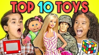 Kids React to TOP 10 TOYS of all time