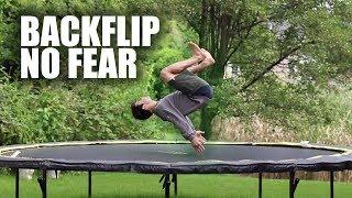 Learn Backflip On A Trampoline ASAP   Method 2