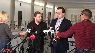 Dobromir Sośnierz, Tomasz Grabarczyk – konferencja prasowa 26.11.2019