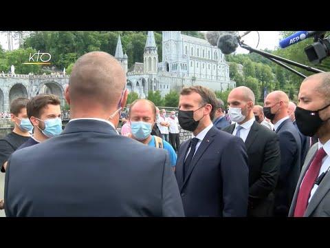 Visite du président Emmanuel Macron au sanctuaire de Lourdes