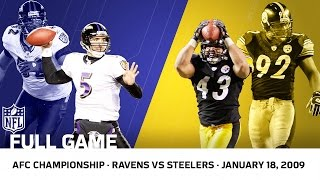 2008 AFC Championship: Polamalu Delivers for the Steelers | Ravens vs. Steelers | NFL Full Game
