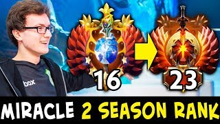 Miracle finished 2 SEASON calibration — 100% accurate Dota matchmaking