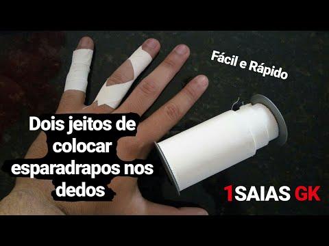 Dois jeitos de Como usar esparadrapos nos Dedos