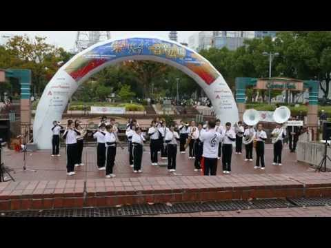 [4K] 蟹江北中学校 吹奏楽部 マーチングパフォーマンス @ 栄まちじゅう音楽広場 2015