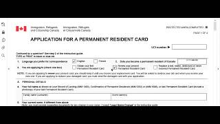 Imm 5444e Application for permanent resident card- how to fill