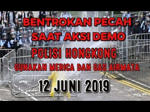 Hongkong Hari Ini 12 Juni 2019 ,DEMO berakhir Bentrok Dengan Aparat Polisi