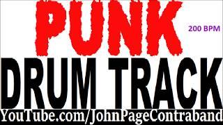 Fast Hardcore Punk Rock Drum Backing Track Tool D Beat