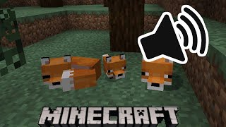 WHAT DOES THE FOX SAY But Every Line Of The Song Is A Minecraft SOUND