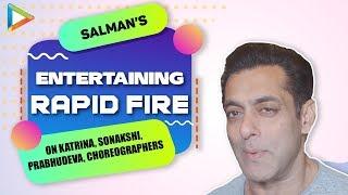 "Salman Khan: ""Katrina Kaif & Prabhu Deva, All Time Fav Stage Performers"" | Rapid Fire | Dabangg Tour"