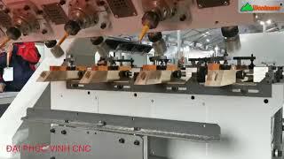 MÁY LÀM MỘNG ÂM DƯƠNG CNC 4 Trục 16 Dao Làm Mộng Tam Giác Bàn ghế cổ điển