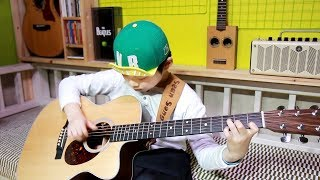 Let it be - The Beatles(fingerstyle guitar cover & arranged by 9 year-old kid Sean Song)