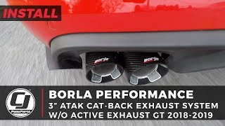 """2018-2020 Mustang GT Install: Borla 3"""" ATAK Cat-Back Exhaust System with 4"""" Carbon Fiber Tips"""