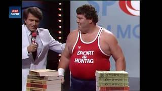 ORF - Otto Wanz Weltrekordversuch Telefonbuchzerreißen
