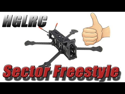 HGLRC Sector Freestyle Frame - Overview. Banggood.