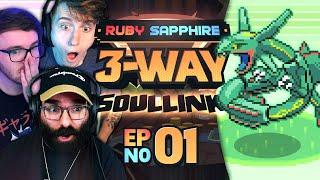 OUR HARDEST CHALLENGE YET! • Pokémon Ruby & Sapphire 3-Way Soul Link • Part 01