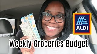 $30 Weekly Grocery Budget for Family of 4   Aldi Haul Shop with me with Aldi prices and Meal Plan