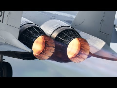 Get Up Close with an F-15 Jet Engine at Max Afterburner Power