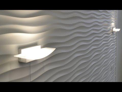 Супер 3D cтена  из гипсовых  3d панелей своими руками в спальне !!!