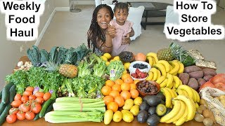 Our Weekly Food Haul + How to store vegetables in Fridge [Kitchen tips]