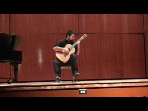 El Colibri by Julio Sagreras during my senior recital in partial fulfillment of my bachelor's degree.