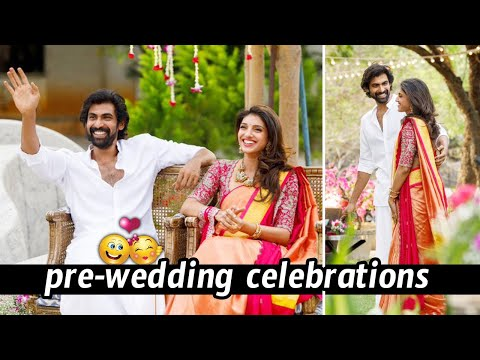 Rana MiheekaBajaj cute couple Pre wedding celebrations