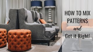 How To Mix Patterns And Colors In Home Decor
