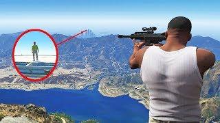 Как далеко можно выстрелить в GTA 5...