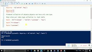 5 Arrays and hash table in PowerShell
