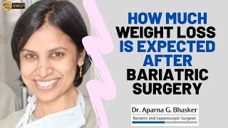 How Much Weight Loss is expected after Bariatric surgery – Dr. Aparna Govil Bhasker