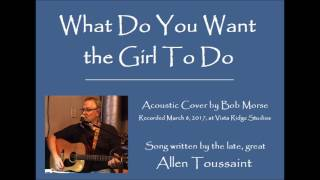 What Do You Want the Girl To Do (acoustic cover by Bob Morse)