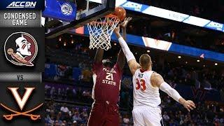 Florida State Vs. Virginia Condensed Game | 2018-19 ACC Basketball