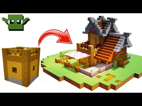 Minecraft Starter House - a 5x5 Building System Build - Thủ