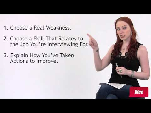 How to Answer 'What's Your Biggest Weakness?'