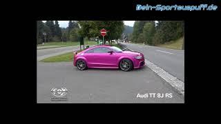 Video: Fox Edelstahl Klappenauspuffanlage ab Kat Audi TT RS 8J 2.5l