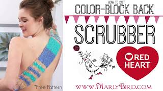 How To Knit Color-Block Back Scrubber