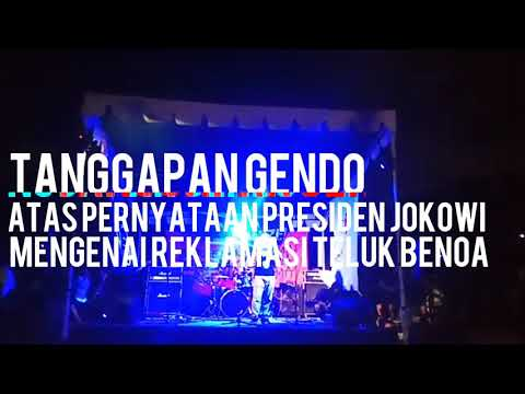 Tanggapan Gendo atas Pernyataan Presiden Jokowi Soal Reklamasi Teluk Benoa